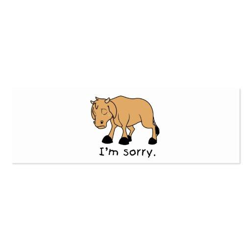 Soy reloj triste gritador triste de la taza del tarjetas de negocios