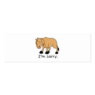 Soy reloj triste gritador triste de la taza del tarjetas de visita mini