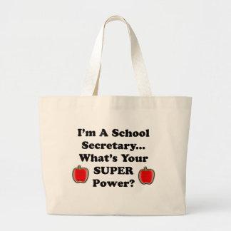 Soy secretaria de la escuela bolsa tela grande