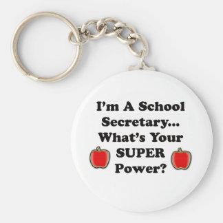Soy secretaria de la escuela llavero redondo tipo chapa