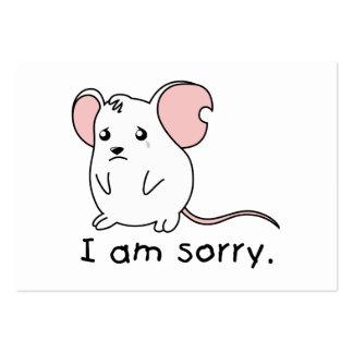 Soy sello blanco gritador triste de la tarjeta del tarjetas de visita grandes