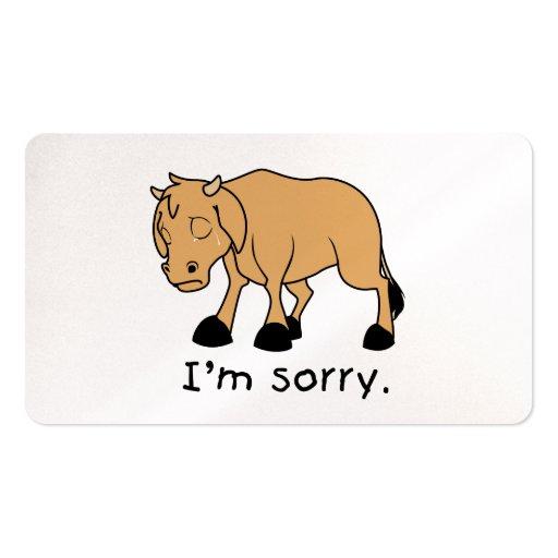 Soy sello triste gritador triste de la tarjeta del plantilla de tarjeta de visita
