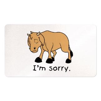 Soy sello triste gritador triste de la tarjeta del tarjetas de visita
