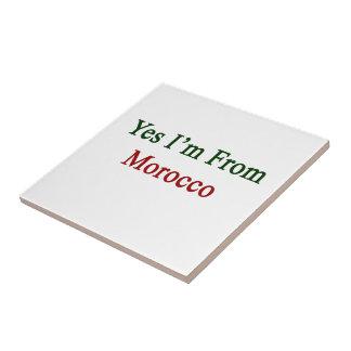 Soy sí de Marruecos Azulejo