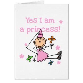 Soy sí princesa tarjeta de felicitación