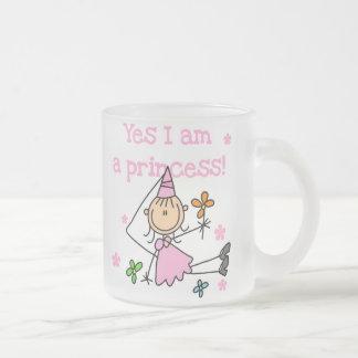Soy sí princesa taza de café esmerilada
