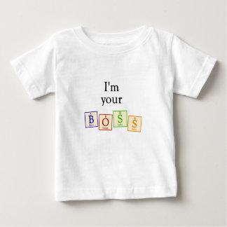 Soy su jefe - camiseta del bebé del friki de la