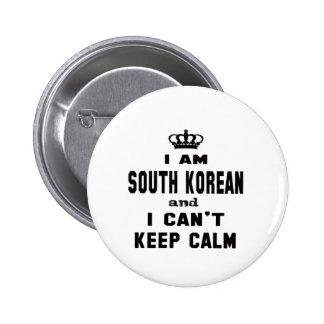 Soy surcoreano y no puedo guardar calma chapa redonda 5 cm