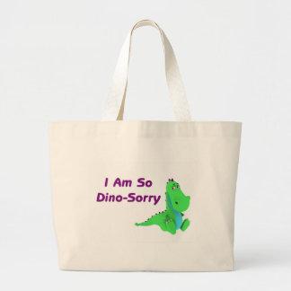 Soy tan dinosaurio triste de Dino Bolsa Tela Grande
