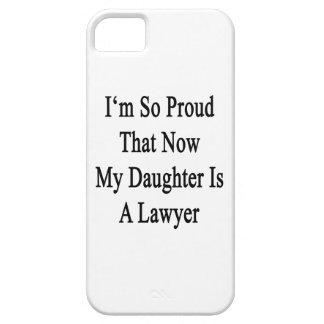 Soy tan orgulloso que ahora mi hija es abogado iPhone 5 fundas