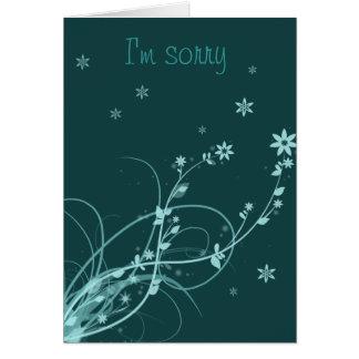 Soy tarjeta de nota triste