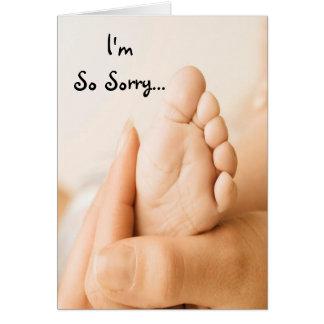 Soy tarjeta tan triste del bebé