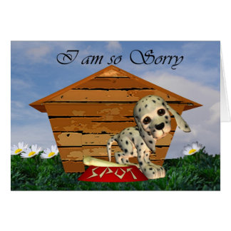 Soy tarjeta tan triste, triste con el perrito tris