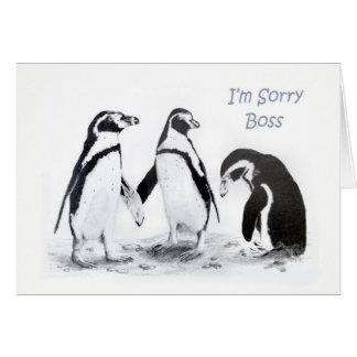 Soy tarjeta triste de Boss