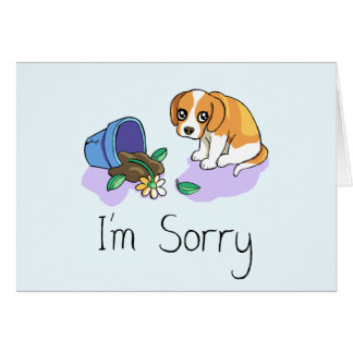 Soy tarjeta triste triste del perrito