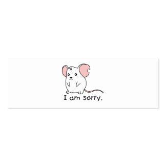 Soy tazas blancas gritadoras tristes de la tarjetas de visita mini