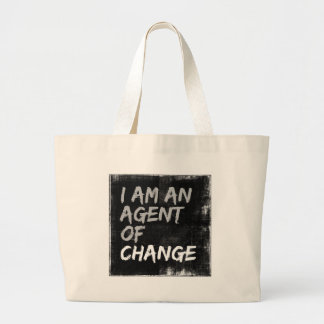 Soy un agente del cambio bolso de tela gigante