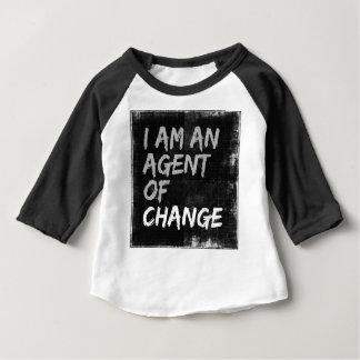 Soy un agente del cambio camiseta de bebé