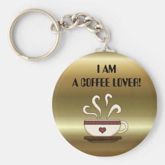 ¡SOY UN AMANTE DEL CAFÉ! llavero