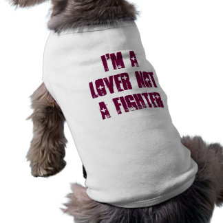 Soy un amante no un combatiente camiseta sin mangas para perro