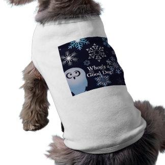 Soy un azul del búho del navidad del búho Nevado