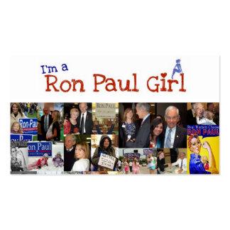 Soy un chica de Ron Paul Plantilla De Tarjeta Personal