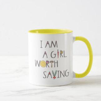 Soy un chica digno de la taza el ahorrar