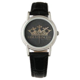 Soy un cuero clásico de las mujeres de la princesa reloj de pulsera