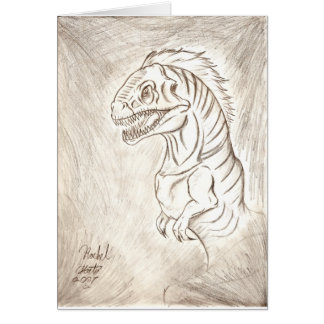 Soy un dinosaurio tarjeta de felicitación
