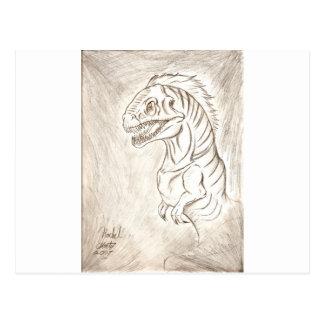 Soy un dinosaurio tarjetas postales