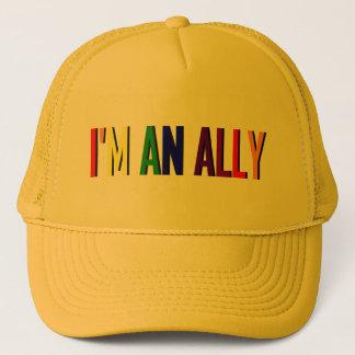 Soy un gorra del amarillo del aliado