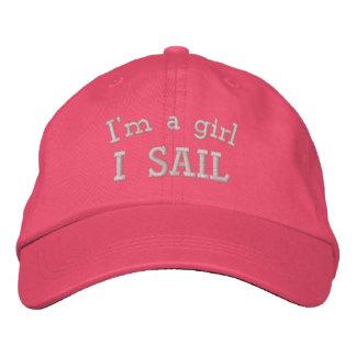 Soy un gorra rosado bordado vela del chica I Gorras Bordadas