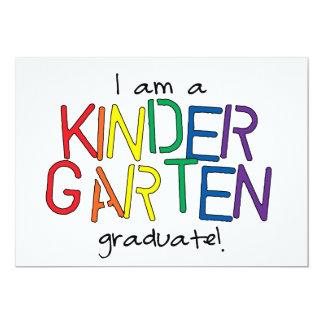 Soy un graduado de la guardería invitación 12,7 x 17,8 cm
