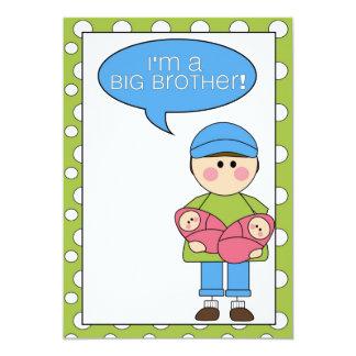 soy un hermano mayor (las hermanas gemelas) invitación 12,7 x 17,8 cm