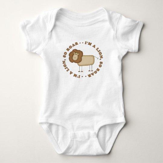 Soy un león… así que ruja body para bebé