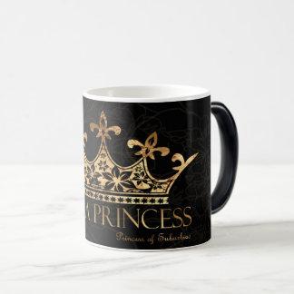 Soy un negro de la princesa w/Crown taza Morphing