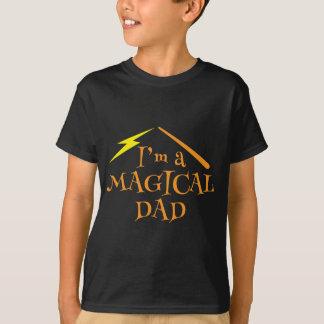 ¡Soy un PAPÁ MÁGICO! Con la vara de los magos Camiseta