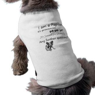 Soy un perro T de Papillon Camiseta Sin Mangas Para Perro