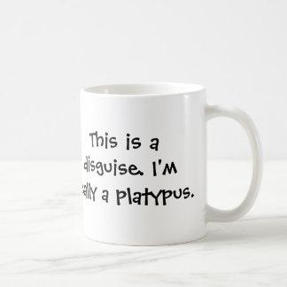 Soy un platypus taza básica blanca