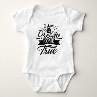 Soy un sueño vengo camisa verdadera del bebé del
