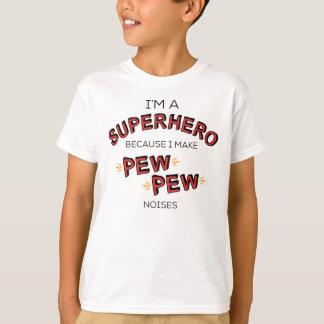 Soy un super héroe porque hago ruidos del BANCO Camiseta