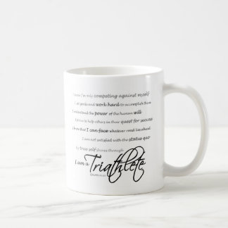 Soy un Triathlete - escritura Taza De Café