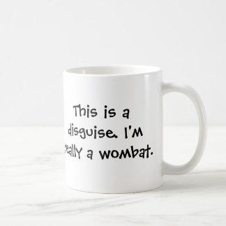 Soy un wombat taza básica blanca