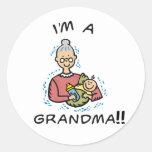 Soy una Abuela-Abuela y un bebé Pegatina