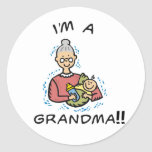 Soy una Abuela-Abuela y un bebé Pegatina Redonda
