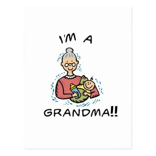 Soy una Abuela-Abuela y un bebé Postales