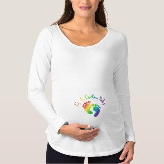 Soy una camisa de manga larga de la maternidad del