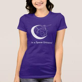 Soy una camiseta del unicornio del espacio (los