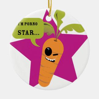 ¡soy una estrella de la pornografía!! © Les Hameço Ornamentos De Navidad