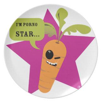 ¡soy una estrella de la pornografía!! © Les Hameço Platos Para Fiestas